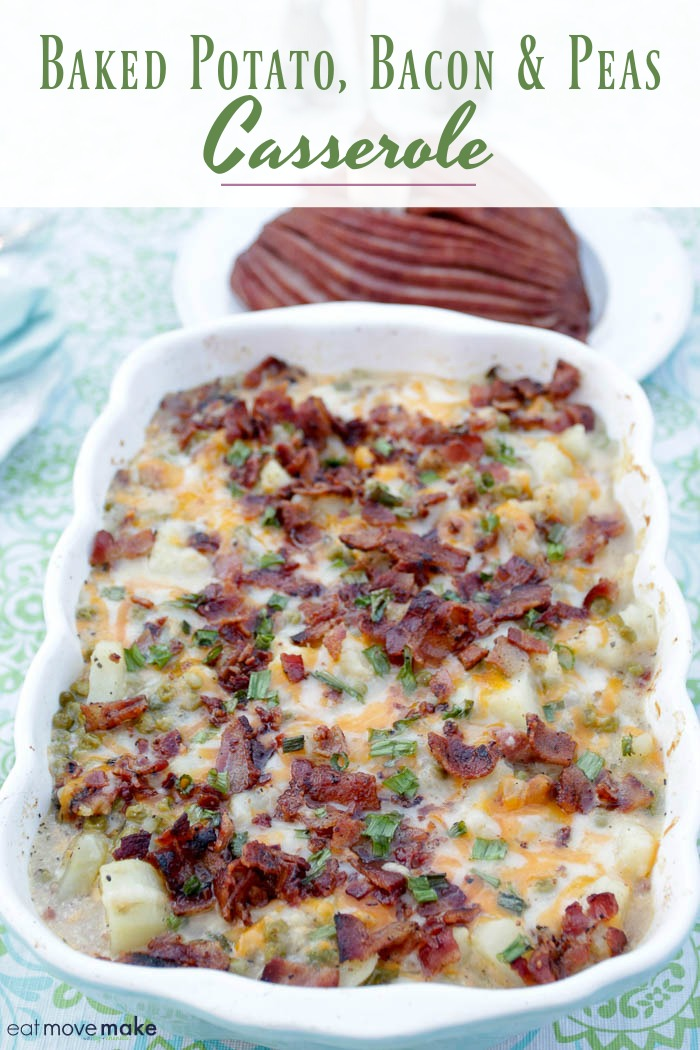 baked potato bacon and peas casserole