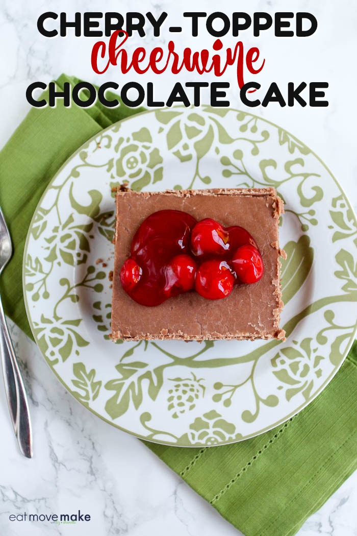 Cherry-topped Cheerwine Chocolate Cake