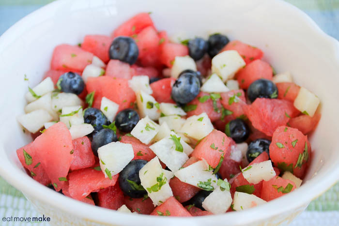 Mexican watermelon salad