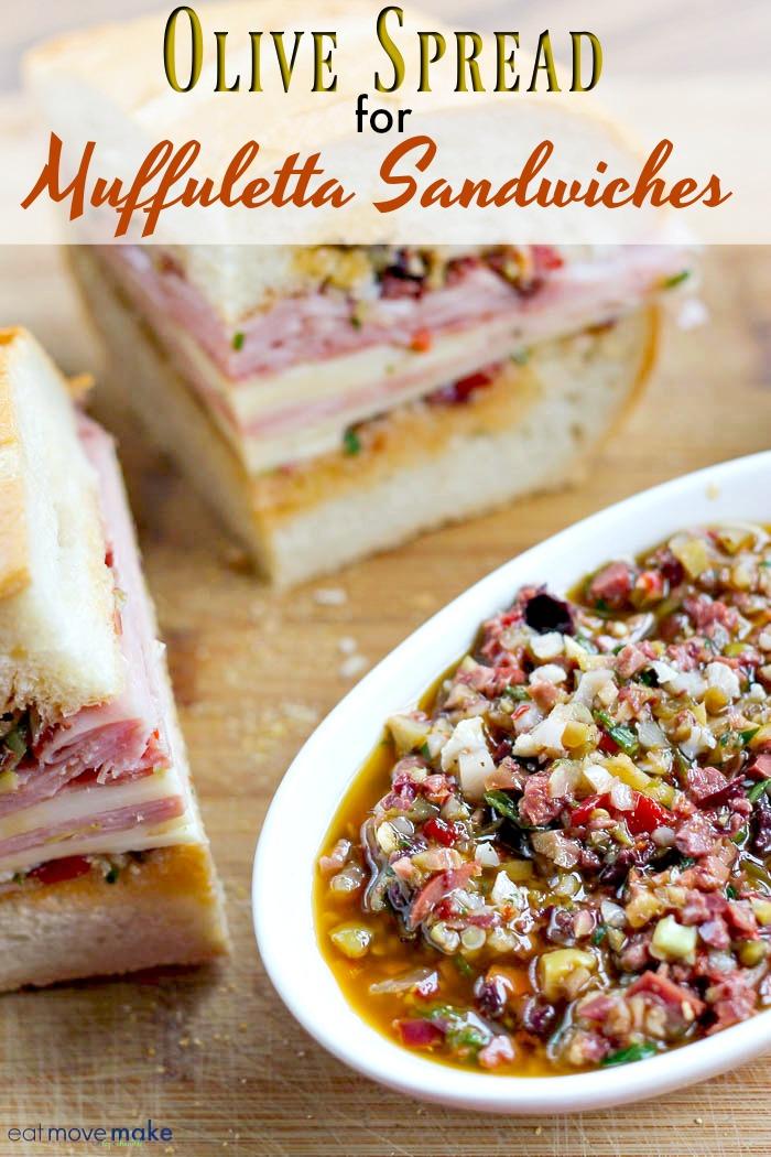 olive spread-olive salad- muffuletta
