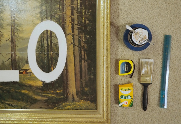 YOLO upcycled thrift store art