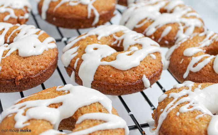carrot cake donuts with glaze