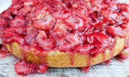 Strawberry Upside Down Cake #EasterSweetsWeek
