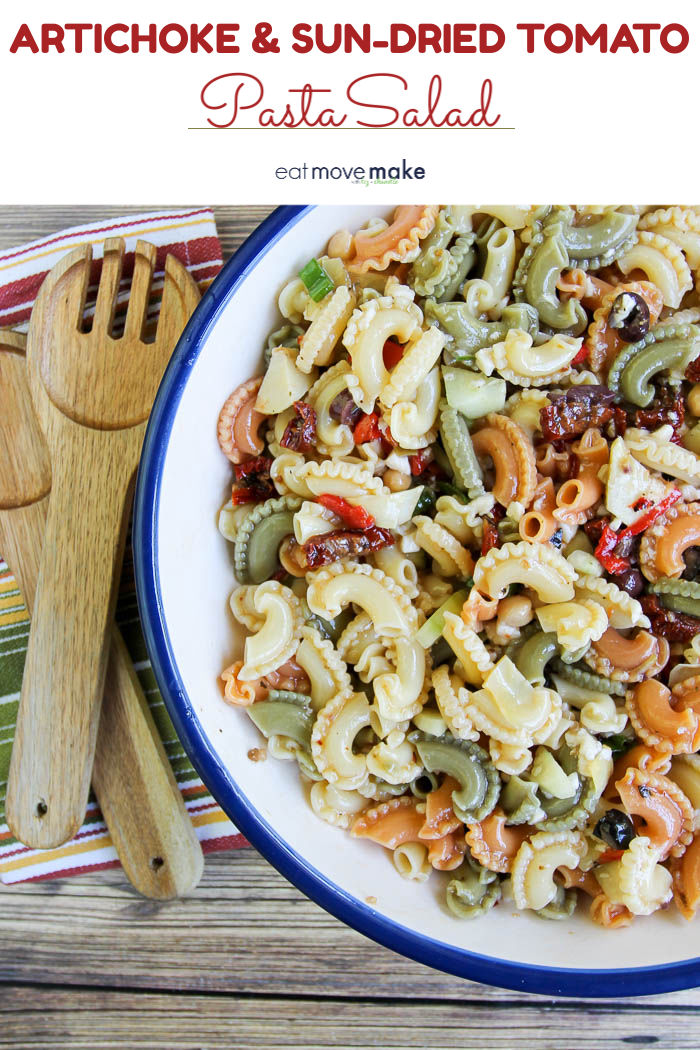 artichoke and sun dried tomato pasta salad
