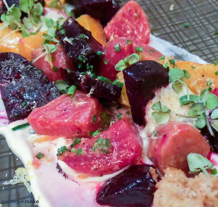 beet salad - Aureole Las Vegas
