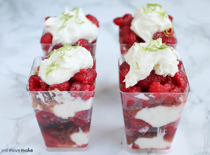 raspberry lime parfaits dessert