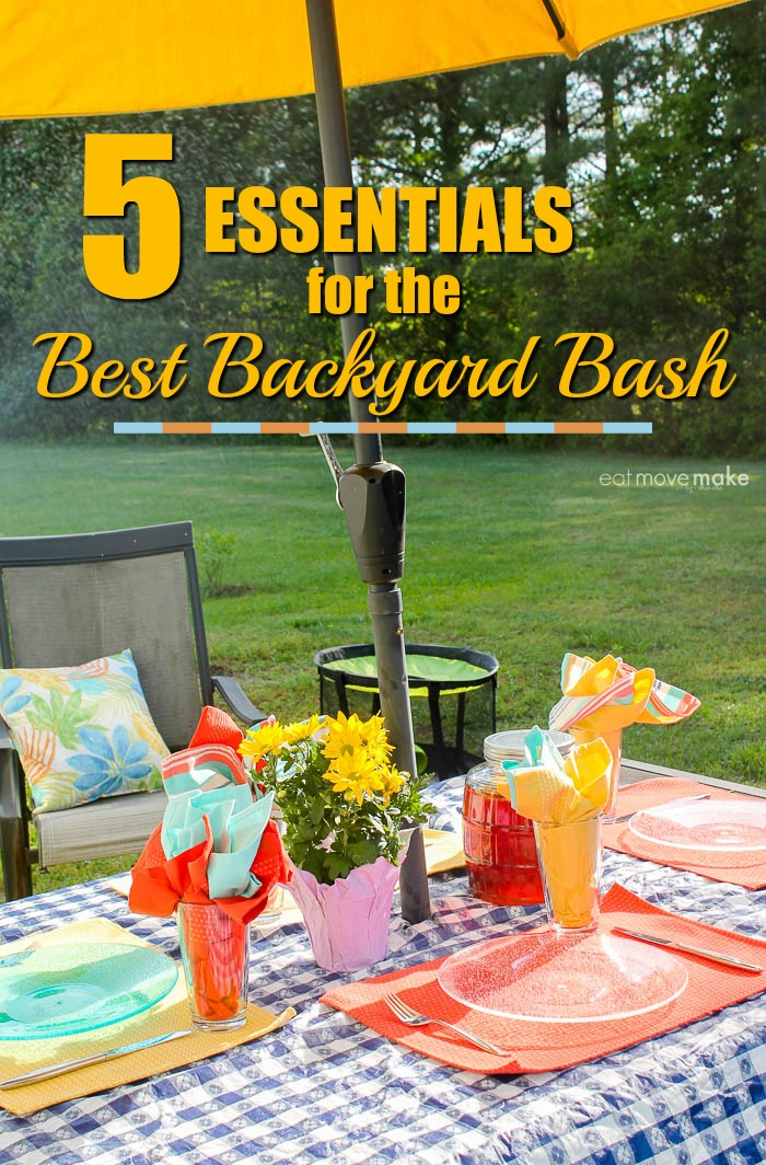 essentials for the best backyard bash