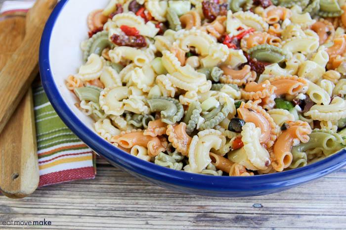 bowl with pasta salad