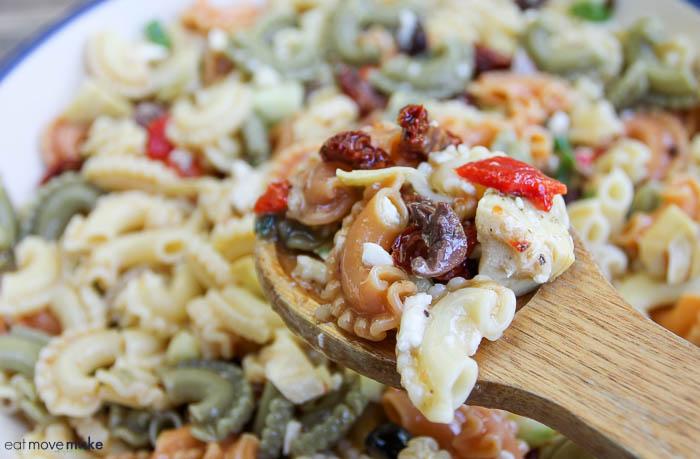 spoonful of pasta salad