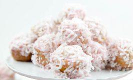 Strawberry Glazed Donut Bites (Sprinkled with Coconut) #SummerDessertWeek