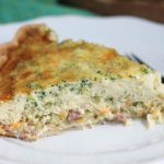 Riced Broccoli, Ham and Cheese Quiche