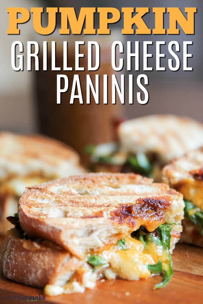 pumpkin grilled cheese paninis