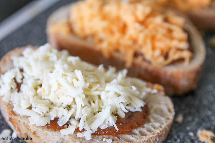 add freshly grated cheese on top of pumpkin butter