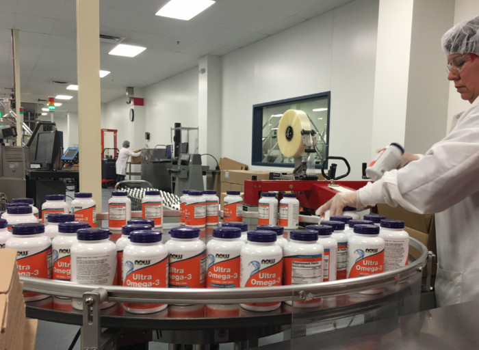 NOW Foods products manufacturing