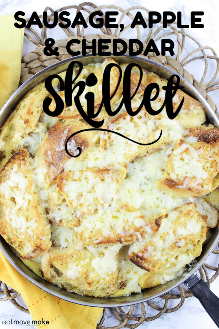sausage apple and cheddar skillet