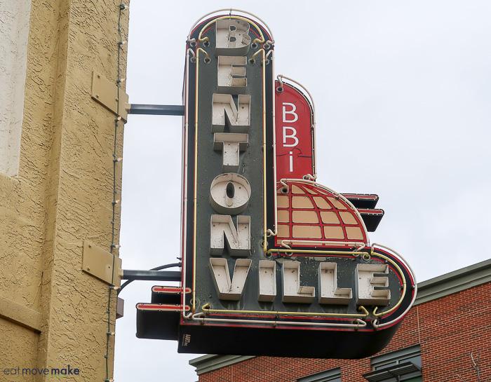 Bentonville neon signs