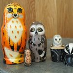 Handpainted nesting dolls sustainable gifts Amazon Handmade