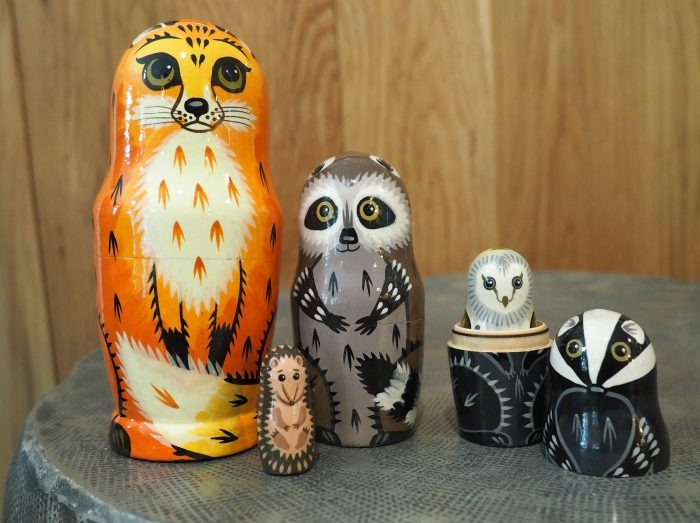 Handpainted nesting dolls sustainable gifts Amazon Handmade