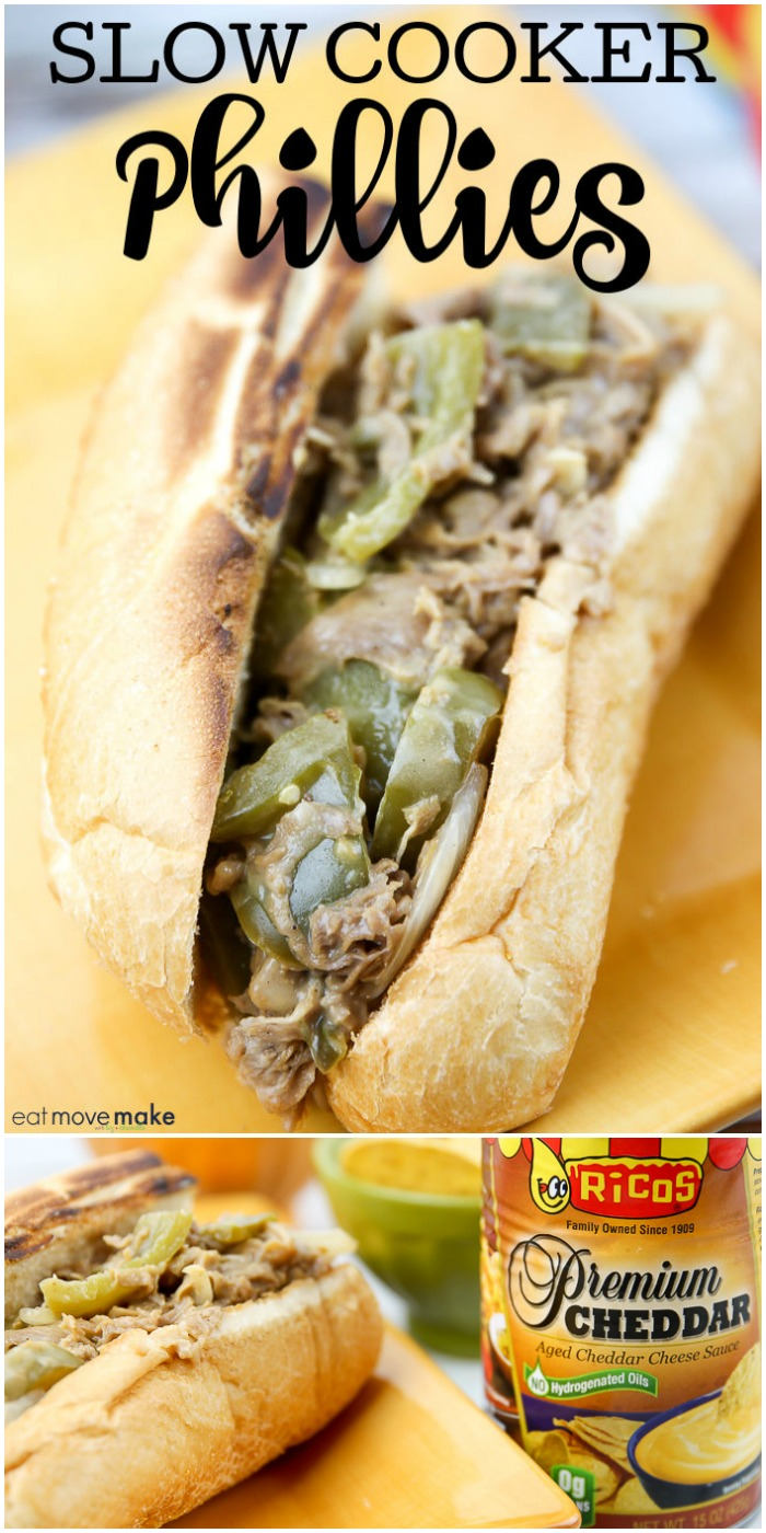 slow cooker philly cheese steak sandwich