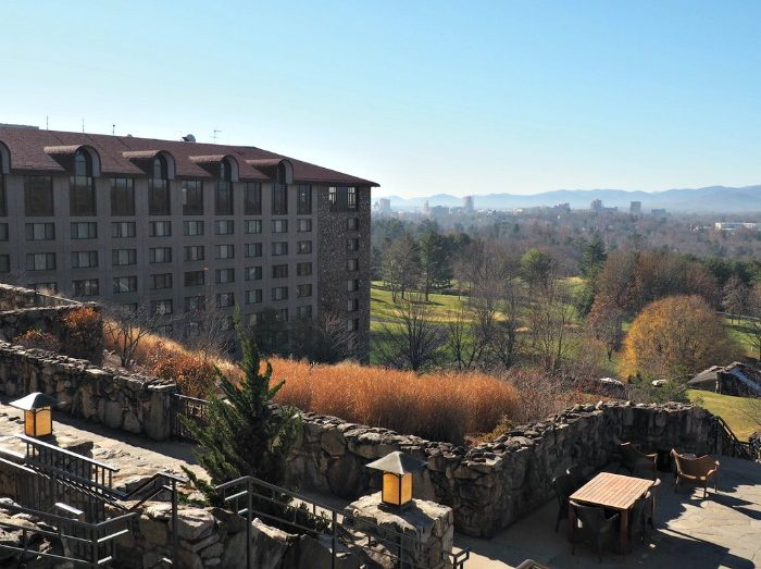 View from Omni Grove Park Inn lobby