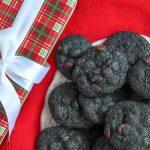 A close up of lump of coal cookies