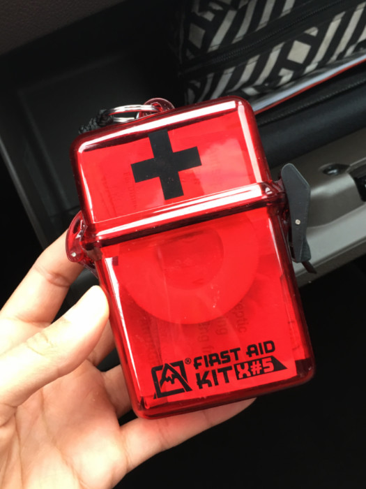 Car organization tips - first aid kit