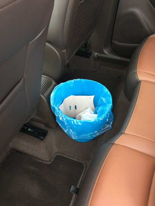 Car organization tips - trash can