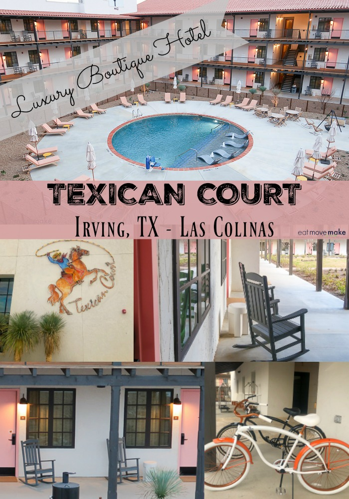Texican Court, a brand new luxury boutique hotel in Las Colinas offers an experience! The exterior has the throwback appearance of an old-time motor court but it's FULL of amenities and modern luxuries. Very fun place to stay in Irving, TX. USA