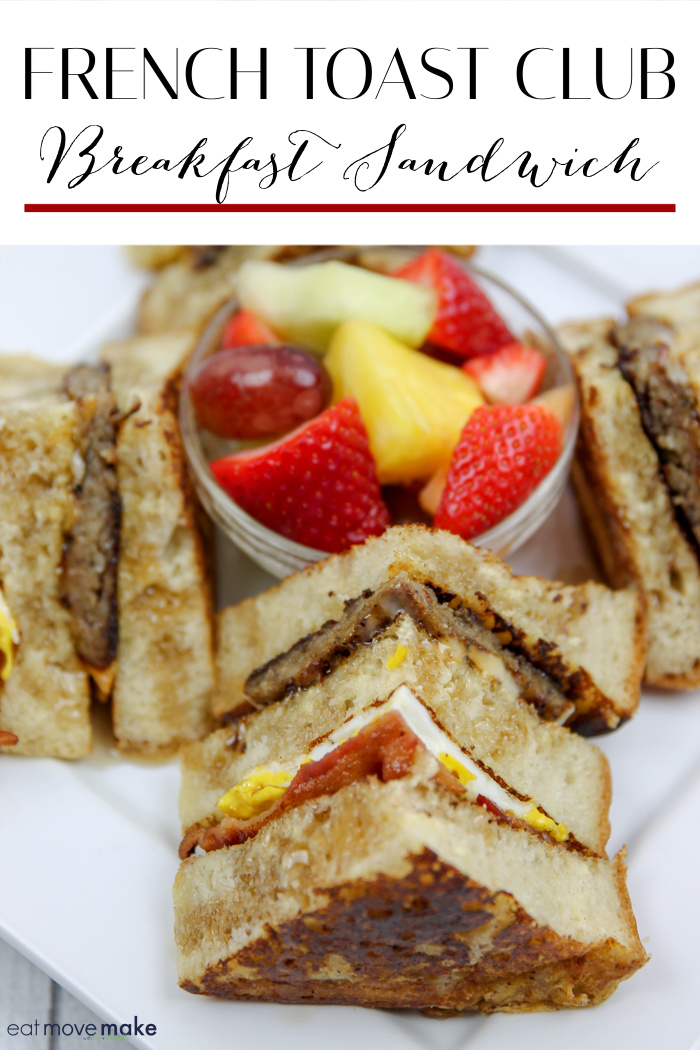 French Toast Club Sandwich