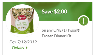 save $2 on Tyson coupon