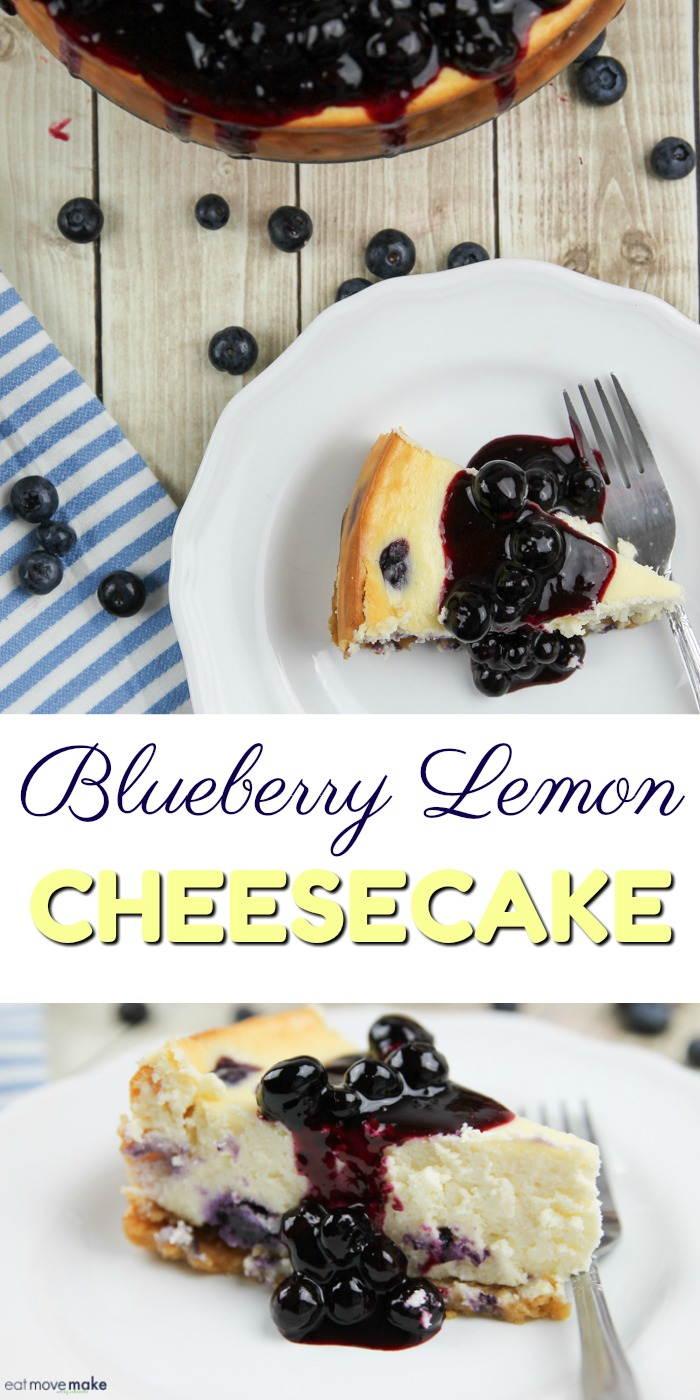 Blueberry Lemon Cheesecake with Lemon Cookie Crust