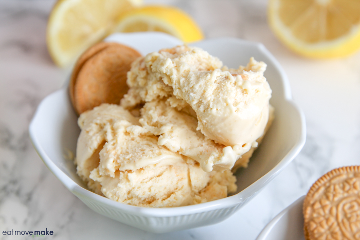 lemon basil cookie crunch ice cream