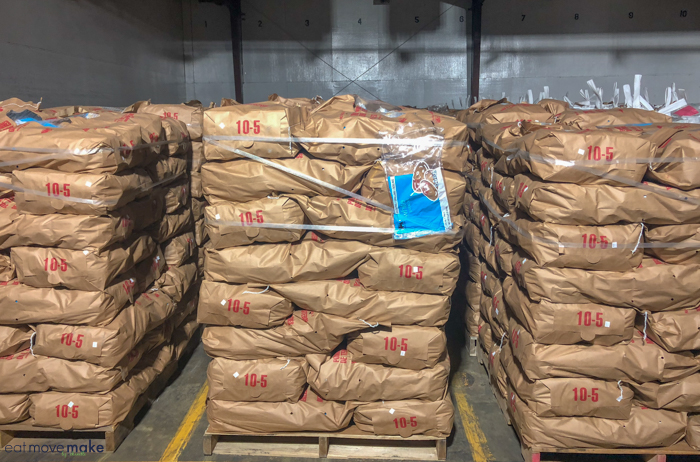 North Carolina farms - potatoes in cold storage