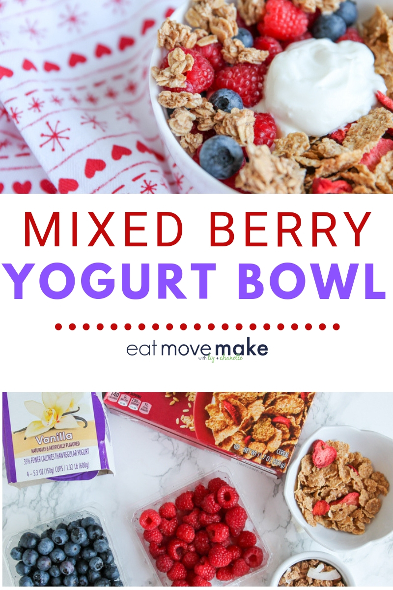 mixed berry Greek yogurt bowl