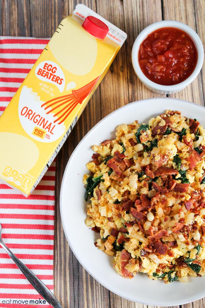 Eggbeaters breakfast bowl