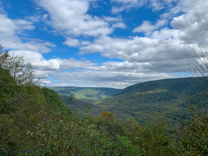 view from Baughman Rock Overlook