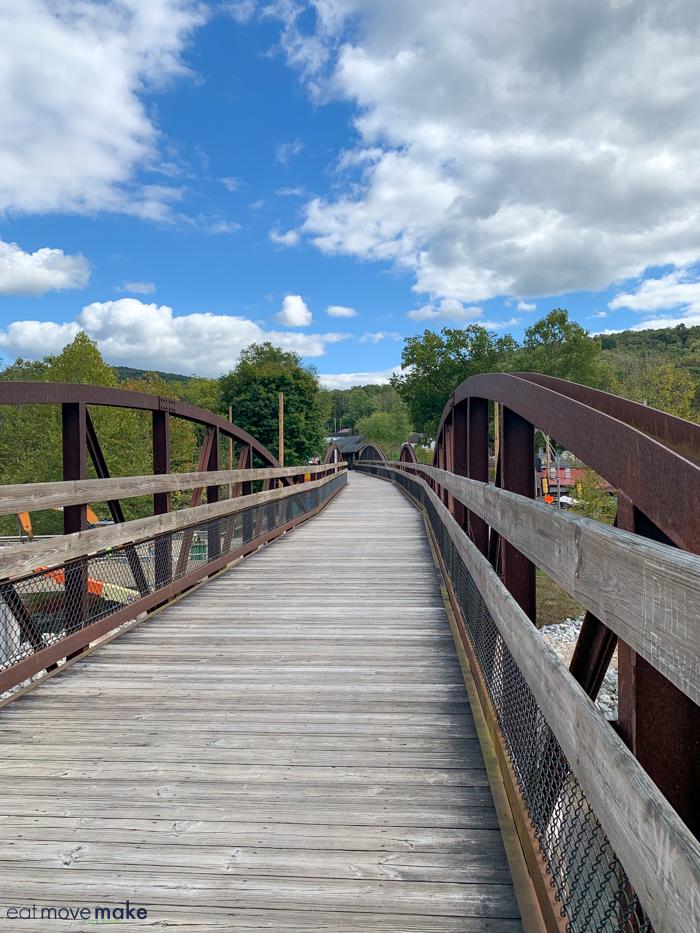 pedestrian bridge in Ohiopyle PA