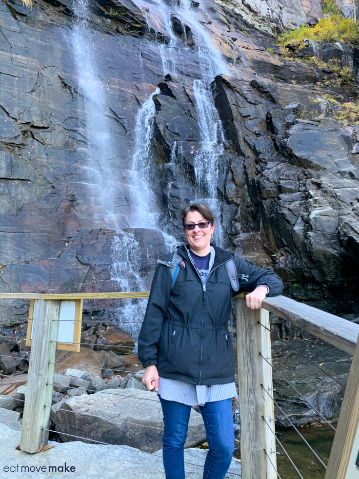 me at Hickory Nut Falls