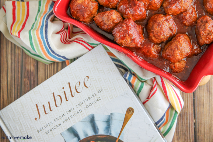 meatballs with molasses BBQ sauce - Jubilee cookbook