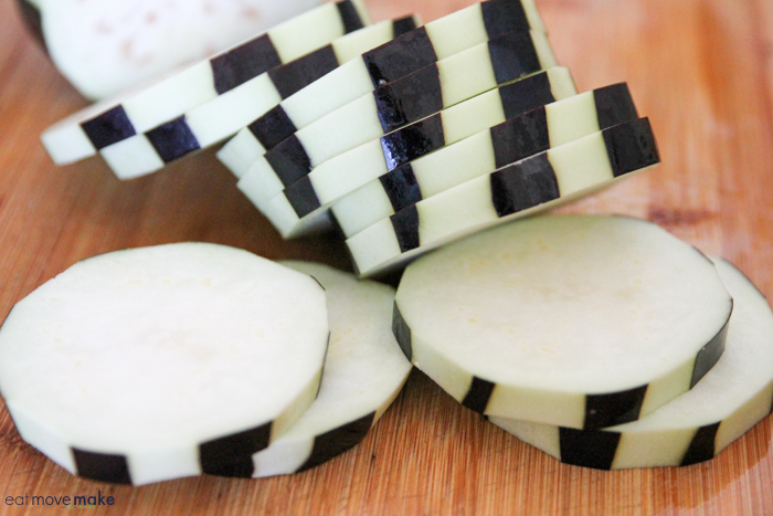peeled eggplant rounds