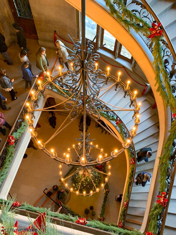 Biltmore Christmas spiral staircase
