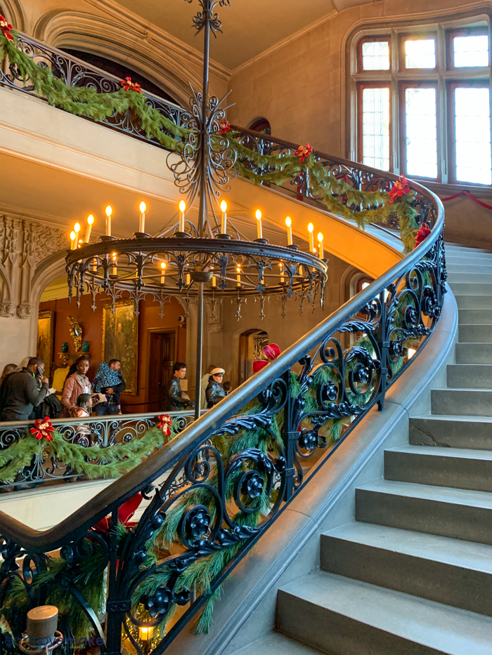 sweeping staircase of Biltmore