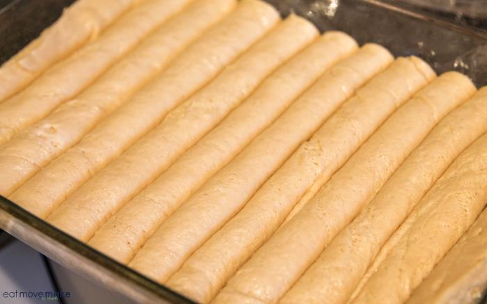 cut dough with bench scraper