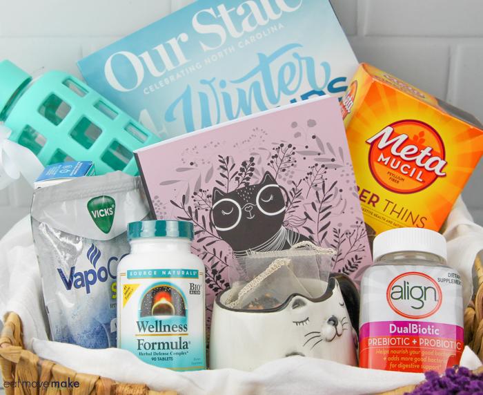 what to put inside a wellness gift basket - diy pom pom basket