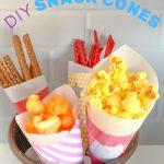 DIY paper food cones