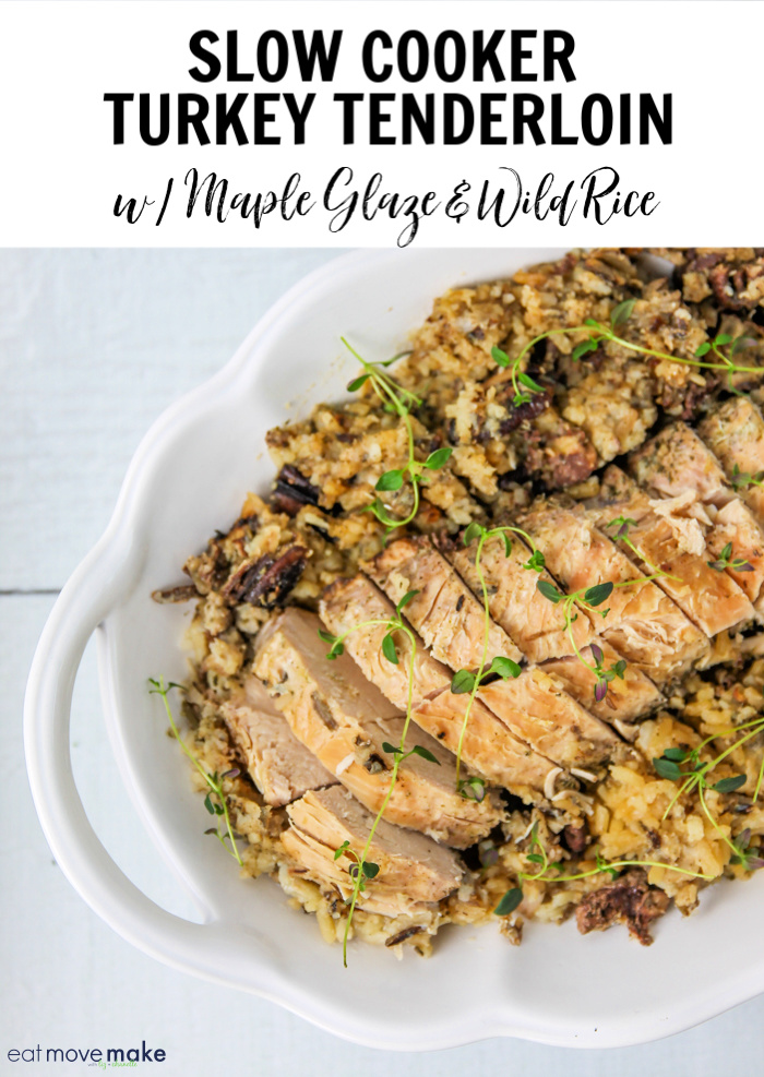 slow cooker turkey tenderloin with maple glaze and wild rice