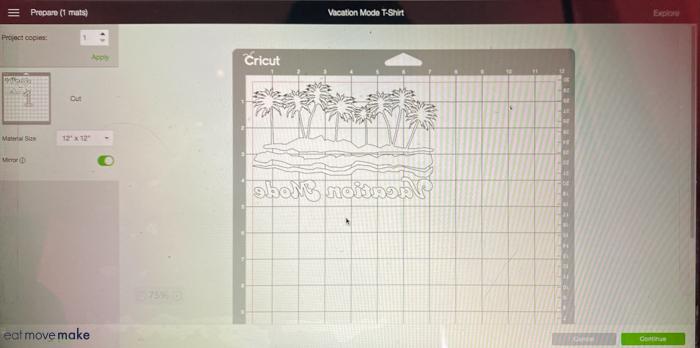 design template in Cricut design space