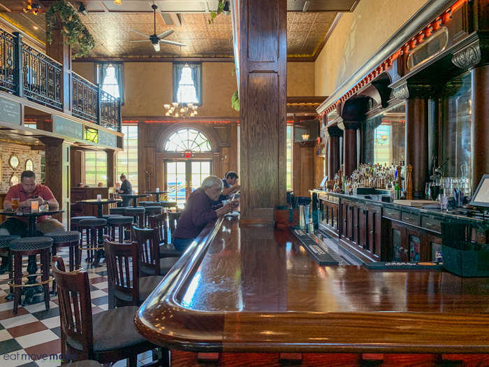bar at The First Post restaurant in York PA