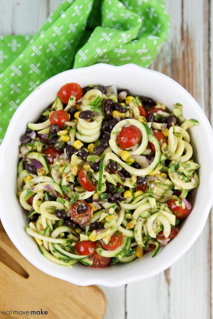 no cook zucchini pasta salad recipe