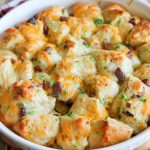 bacon cheese biscuit bites in dish